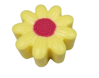 Yellow Flower Soap-Valentine Soap-Mother's Day Soap-Glycerin Soap-Spring Soap-Children Soap-Girl Soap-Father's Day Soap-Flower Soap