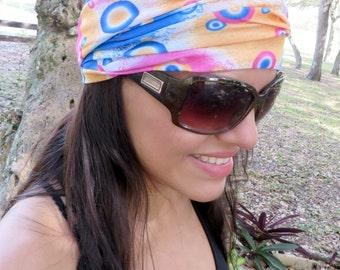 Wide Yoga Headband, Running Headband, Fitness Headband, Workout Headband, Boho Headwrap, No Slip Headband, Hippie Headband, Bohemian Turban