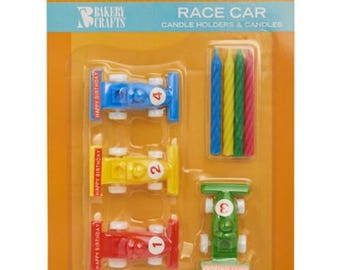 Racing Car Candle Holders & Candles