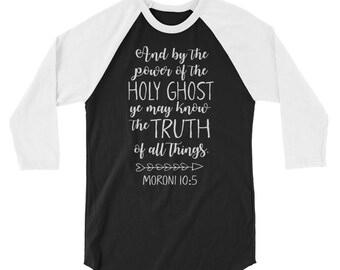 And by the power of the Holy Ghost Raglan T-shirt