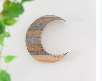 Nursery Decor | Woodland Nursery | Boho Nursery | Moon Child | Moon | Moon Decor | Wood Moon | Nursery Wall Decor | Reclaimed Wood Art