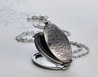 Folding Floral Locket, family locket Mother's Day gift for mom gift for grandmother 4 photo locket multi photo locket photo locket