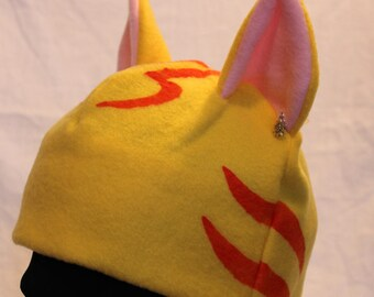Tabby Cat Ear Hat - YELLOW & ORANGE