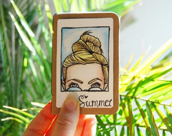 Mini Instax Album | Girl with bun & sunglasses | customizable