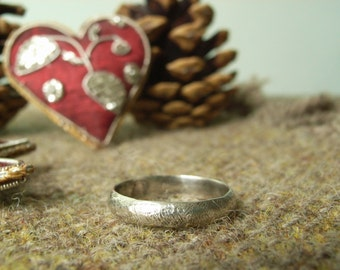 """Silver """"Rough 'n' Ready"""" Ring. Textured Rustic Ring."""