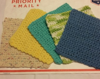 Washcloths / Crocheted Washcloths / Dishcloths / Facecloths