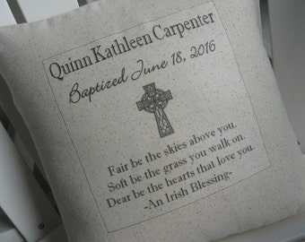 Scripture pillows etsy first communion pillow christening baptism custom heirloom gifts spiritual gifts childs negle Images