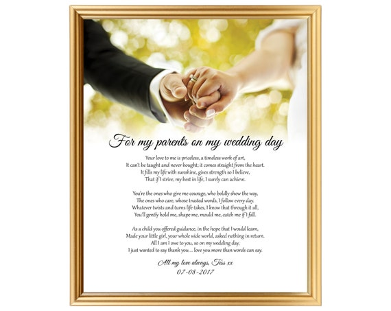 Perfect Wedding Gift For Sister: Gift Poem On Wedding Day From Bride To Parents Poem Gift