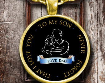 Necklace from Father to Son | Dad son gift | Pendant for son