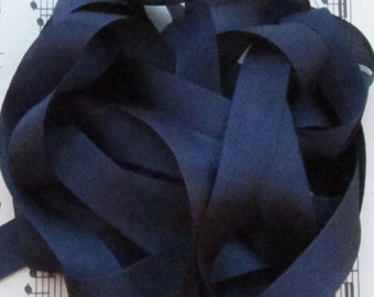 Dark Navy Blue Seam Binding Silky Rayon Seam Binding Ribbon - 9 yards PSS 0008