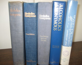 Alcoholics Anonymous 5 Book Lot, 1960's/1970's