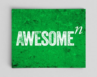 Typographic Print Math Print Awesome to the Nth Degree Teacher Gifts for Teachers Science Art Math Teacher Gifts for Math Teachers Awesome