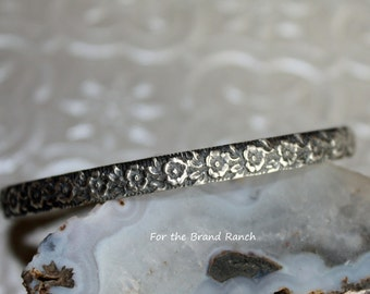 Small Sterling Silver Floral Bracelet