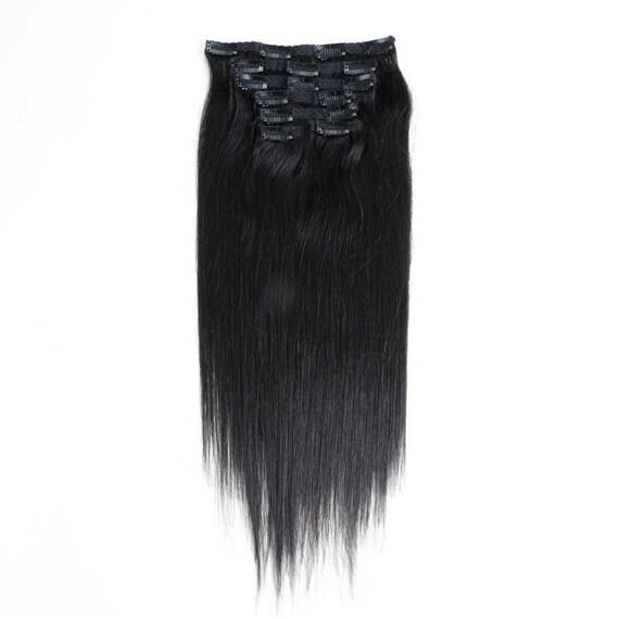 Full Head Clip In Hair Extension Virgin Human Hair 7 Pieces