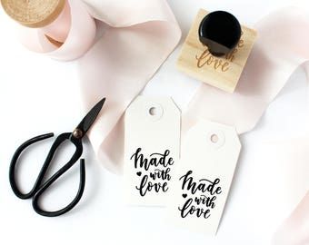 Made With Love Stamp, DIY Stamp, Calligraphy Stamp