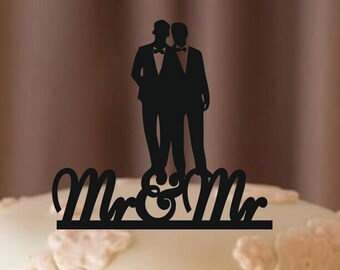 MR and MR Gay Cake Topper, Wedding Decorations