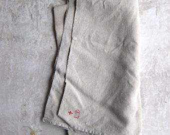 Old French linen tea towel