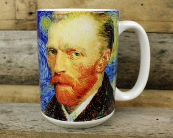 Van Gogh MUG post impressionist art christmas gift Holiday white elephant gifts for art lovers MuSEUM gift starry night cup art teacher gift