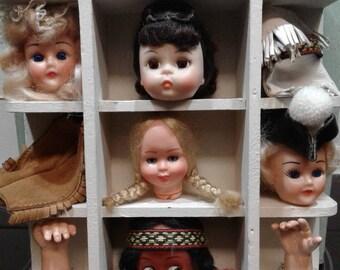 Storybook Dollhead Shadowbox