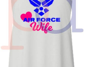 Air Force Wife Tank and Tote
