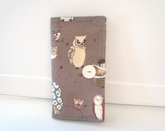 12 Slot Loyalty Card Organizer Holder,  Business Card,Gift Card Wallet -  Spotted Owl