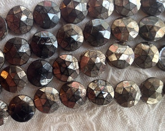 Vintage Antique Silver 9 mm Nailhead - 12 Beads