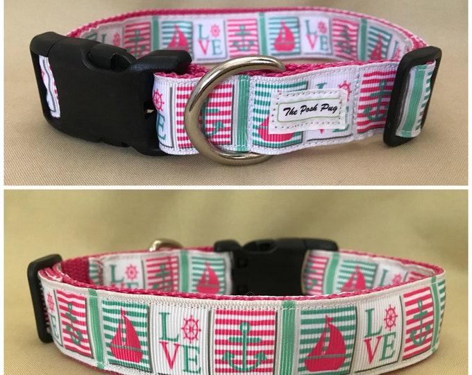 "Handmade MEDIUM 1"" Adjustable Dog Collar - 9""-14"""