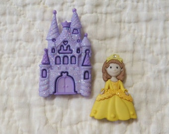 Princess and Castle Buttons Belle of the Ball Disney Princess