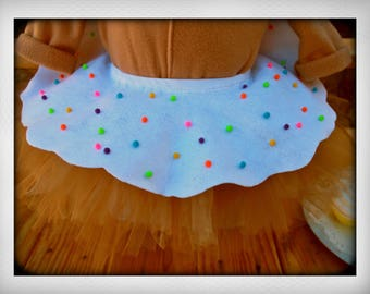 Unique Donut Girl Tutu  child size 6 to 12 *made to order*