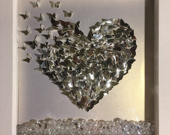 Butterfly Heart Box Frame