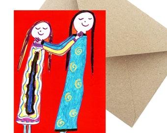 "Postcard Greeting Card Gift Birthday ""Girlfriends"""