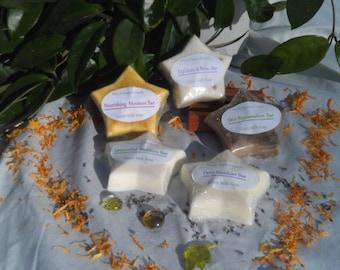 Star Shaped Goats Milk Soap- Hand Made 3oz. Bars