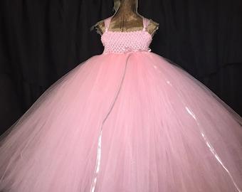 Pink Princess costume, princess dress, pink flower girl dress, pink wedding, pink dress, pink tutu, princess birthday, pink tutu, the twirl