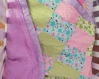 Patchwork Toddler SpringTime Butterfly Garden Theme Quilt
