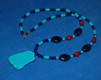 Lady of Turquoise Hathor Necklace - ancient egypt - het heru - het heret - kemetic - netjer