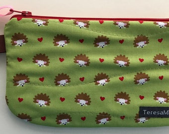 X-Small Hedgehog Zip Pouch