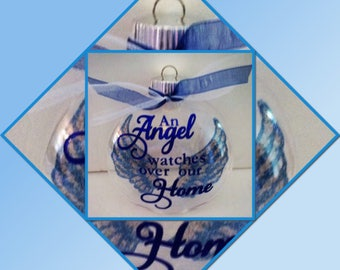 An Angel Watches Over Our Home Shatterproof Ornament Angel Wings In Memory