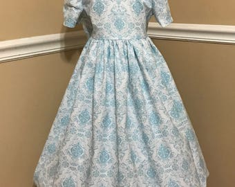 Wow, light blue Christmas dress , 3T-5 next day shipping