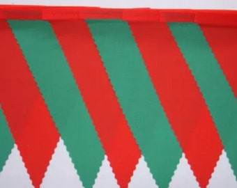Wales Green & Red  fabric bunting