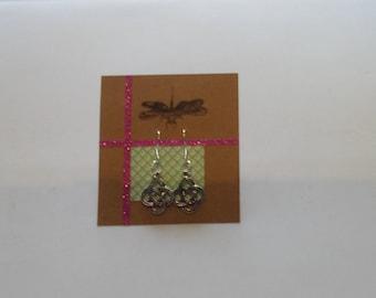 Gaelic style silver earrings