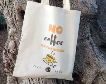 Coffee tote bag & produce bag set, market bag set, canvas tote bag, eco girl tote, zero waste, reusable bags, market tote, eco shopping bag