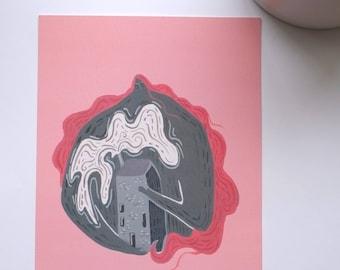 Home- A5 Illustration print