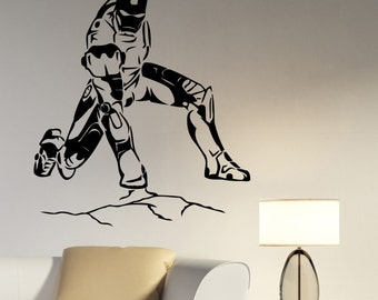 Iron Man Wall Decal Vinyl Sticker Marvel Comics Superhero Art Decorations for Home Housewares Bedroom Playroom Kids Boys Room Decor irm1