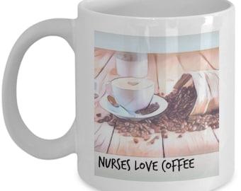 Nurses Love Coffee Mug