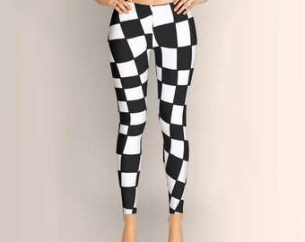 Black and White Distortion, Leggings