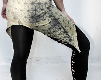 Leafy Sacred Geometry pixie skirt