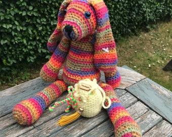 Crochet Bunny/Crochet Rabbit/Plush Bunny/Plush Rabbit/Nursery Decor