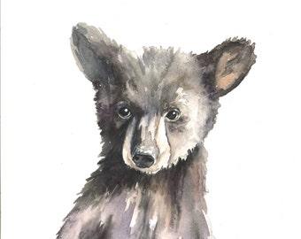 Black Bear Cub - Art Print