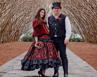 Groom, Themed Wedding, Steampunk, Victorian, Renaissance, Pirate, Halloween, Costume, Victorian Vest, Dickens