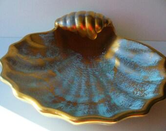 Stangl Scallop Dish Stangl Pottery Dish Seashells Vintage Beach Decor Cottage Seaside Seashore Home YourFineHouse Vintage Ceramic Bowl